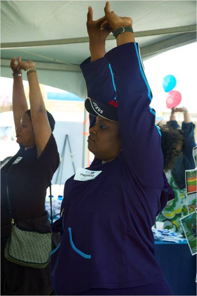 Members of metro Detroit African American churches compete in the Body and Soul BLUE walking challenge sponsored by BCBSM and the American Cancer Society