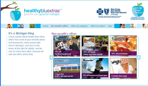 Michigan Blue Cross Members Save at Local/National Retailers with Healthy Blue Xtras