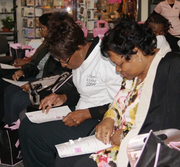 Participants in the fourth annual Sister & Sister Health and Education Day event played a round of breast health Bingo.